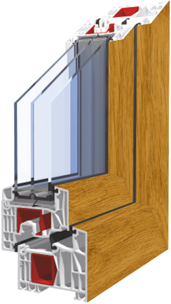 plastová okna KNIPPING 76 Šumperk
