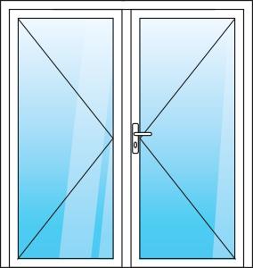 Vchodové hliníkové dveře